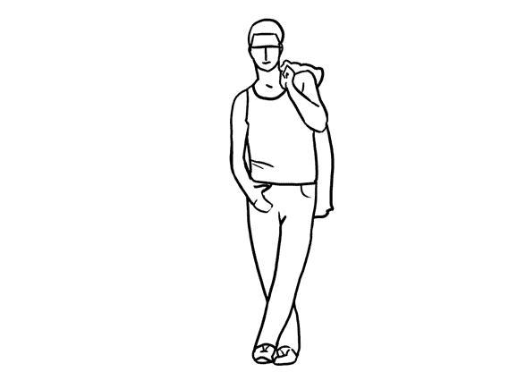 【高清图】 模特摆姿全攻略 图解21个男模特拍摄姿势图2