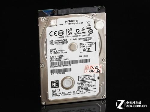 日立单碟500GB/7200转本盘