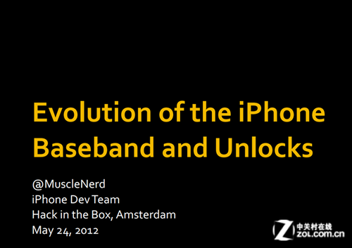 """肌肉男在HITB大会上谈""""iPhone基带和解锁的演变"""""""