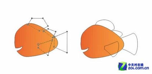 Coreldraw绘制海底总动员小鱼Nemo