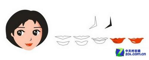 画鼻子和樱桃小嘴
