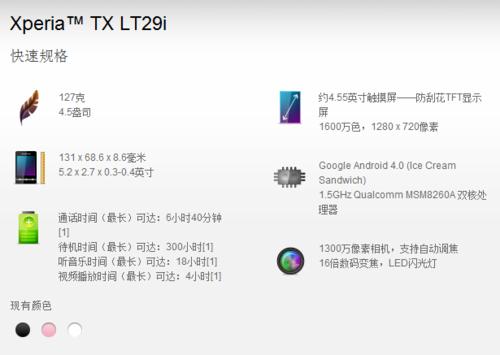 首款arc曲线新典范 1300W索尼LT29i评测