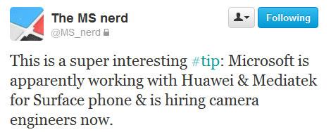 微软、华为、联发科将联手打造WP8手机