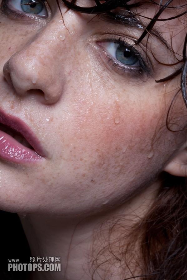 【高清图】 ps利用计算及通道完美消除人物脸部的斑点图1