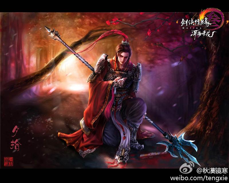 《剑网3》小清新手绘图集 玩家笔下的江湖