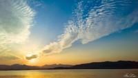 夕阳西湖下 带着诺基亚1020拍落日