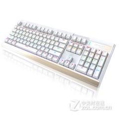灵逸GT-200七彩背光机械键盘 白色 青轴
