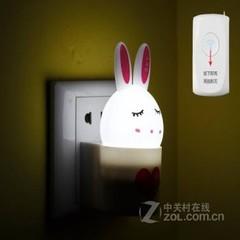 银之优品可爱兔子小夜灯 升级遥控版 白光