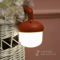 格林钛德创意声控光控双智能感应LED橡果灯 橡果白光