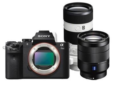 索尼(SONY)ILCE-7RM2/A7RM2全画幅微单数码相机 a7r II/A7R2 FE 24-70mm F4蔡司标准变焦镜头套装