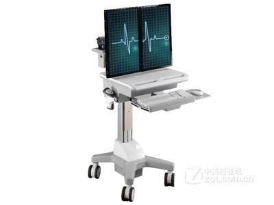 TOPSKYS 二屏顯示器支架醫療移動推車醫用工作臺護理車CND01