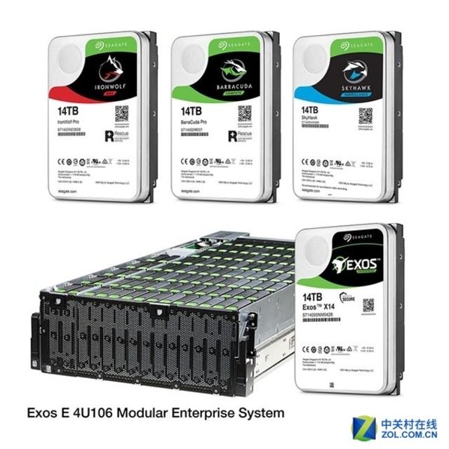 希捷发布14TB机械硬盘 共五款最高4220元