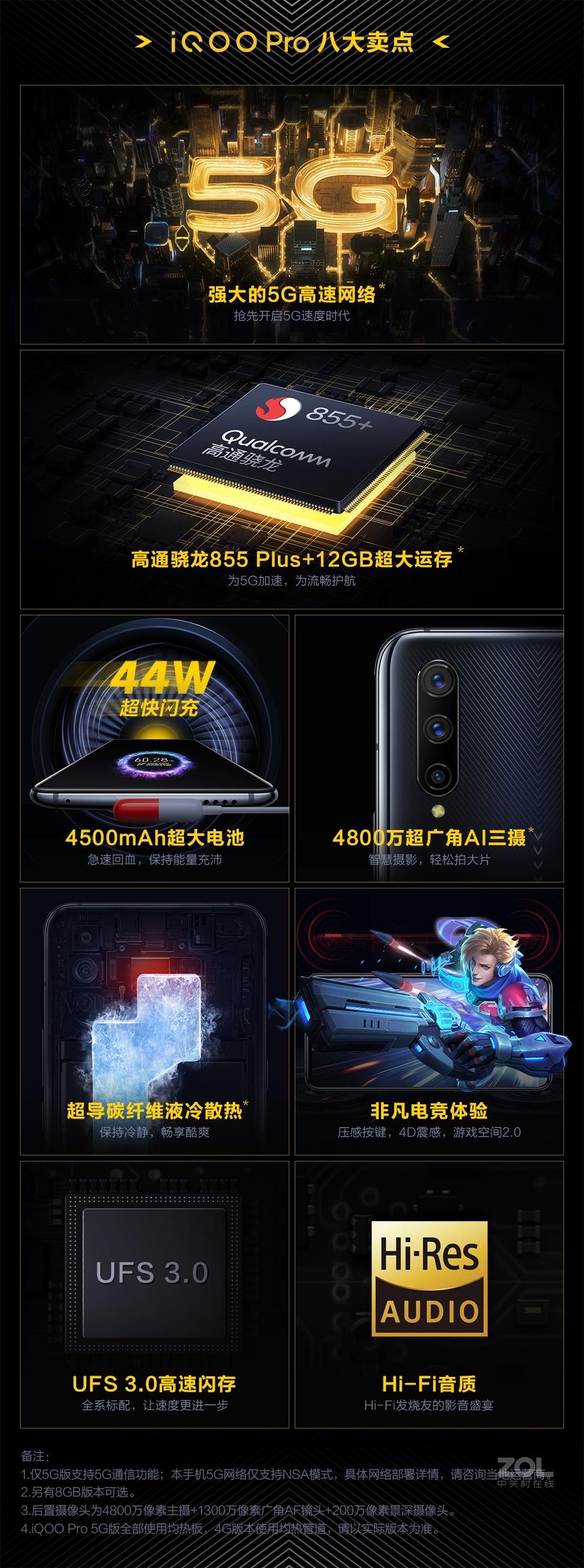 vivo iQOO Pro(8GB/128GB/5G全网通)评测图解产品亮点图片1