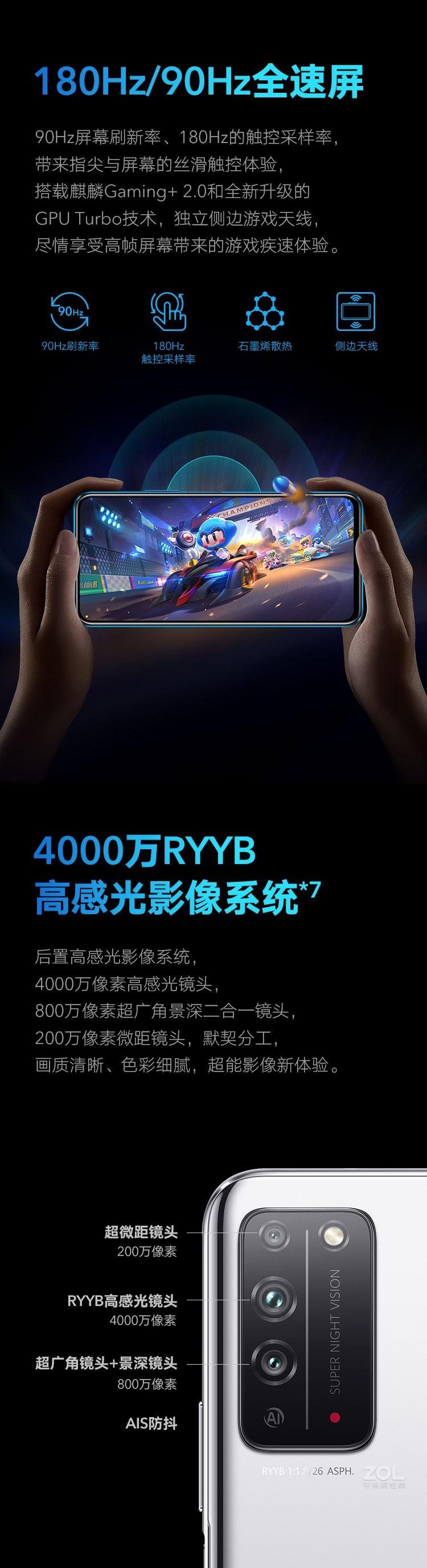 荣耀X10(6GB/128GB/全网通/5G版)评测图解产品亮点图片3