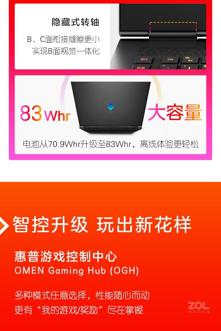 惠普暗影精灵7 Plus(i7 11800H/16GB/1TB/RTX3060)评测图解产品亮点图片17