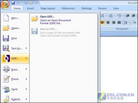 微软宣布Office 2007将支持ODF文档