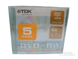 TDK 商务银盘DVD-RW 4速 4.7G(5片装)
