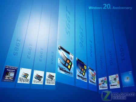 从1985年第一版视窗开始,20多年Windows走过风风雨雨依然是人们心目中的最爱!