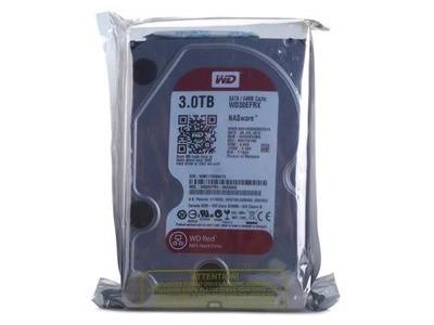 西部数据 3TB 7200转 64MB SATA3 红盘(WD30EFRX)